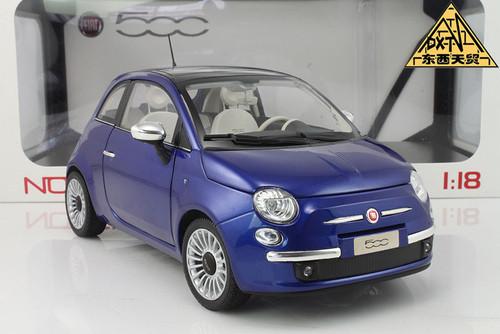 1/18 Norev Fiat 500 (Blue) Diecast Car Model