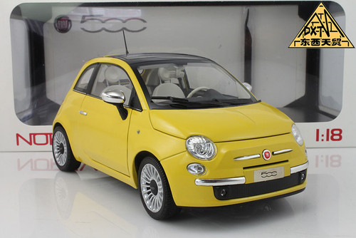 1/18 Norev Fiat 500 (Yellow) Diecast Car Model