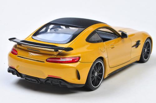 1/24 Welly FX Mercedes-Benz MB Mercedes AMG GTR GT R (Yellow) Diecast Car Model