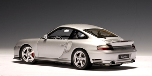 1/18 AUTOart PORSCHE 911 TURBO (996) - SILVER Diecast Car Model 77832