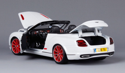 1/18 Bburago 2012 2013 Bentley Continental Supersports ISR Convertible (White) Diecast Car Model