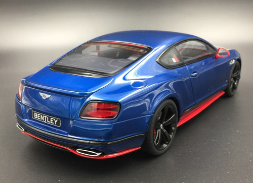 1/18 GT Spirit GTSpirit Bentley Continental GT Speed Black Edition (Blue) Resin Car Model