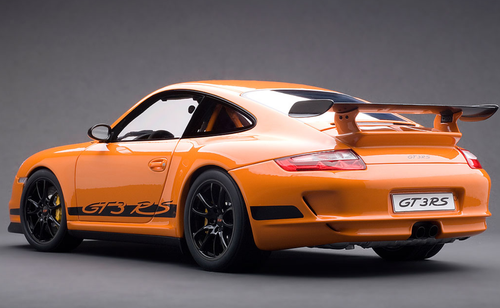 1/18 AUTOart PORSCHE 911 (997) GT3 RS - ORANGE WITH BLACK STRIPES Diecast Car Model 12117