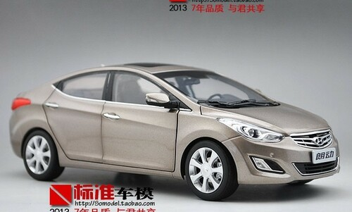 1/18 Dealer Edition 5th Generation (2011-2015) Hyundai Elantra (Champagne) Diecast Car Model
