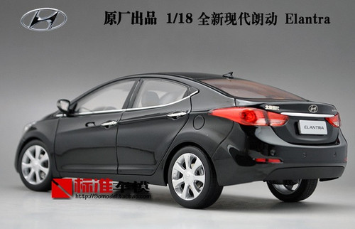 1/18 Dealer Edition 5th Generation (2011-2015) Hyundai Elantra (Black) Diecast Car Model