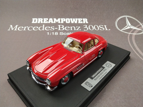 1/18 DreamPower Mercedes-Benz Mercedes MB 300 SL 300SL (Red) Car Model Limited 98