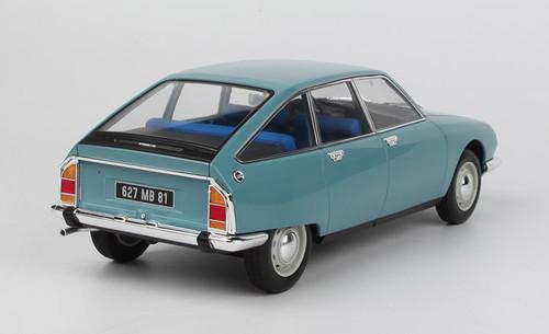 1/18 Norev 1972 Citroen GS Club (Camargue Blue) Diecast Car Model