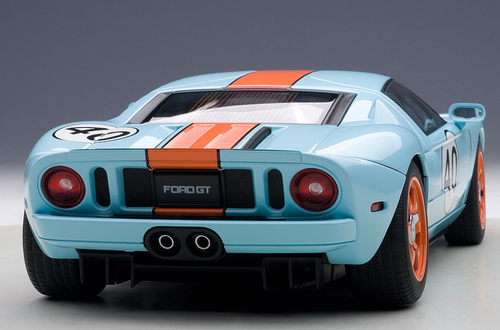 1/18 AUTOart 2004 FORD GT (BLUE/ORANGE PAINT SCHEME) Diecast Car Model 80513