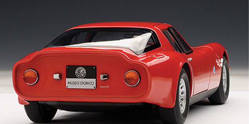 1/18 AUTOart 1965 ALFA ROMEO TZ2 - RED Diecast Car Model 70198