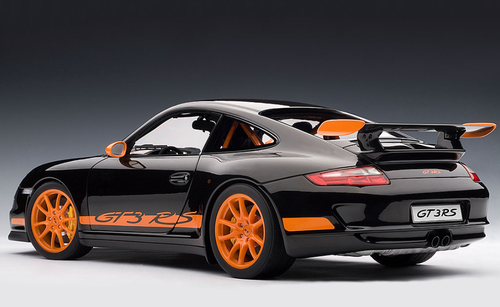 1/12 AUTOart PORSCHE 911 (997) GT3 RS - BLACK WITH ORANGE STRIPES Diecast Car Model 12116