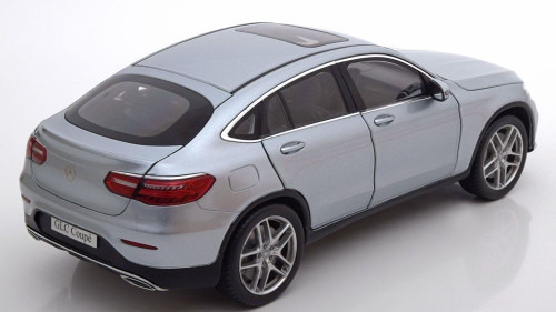 1/18 Dealer Edition Mercedes-Benz Mercedes MB GLC Coupe (Silver) Diecast Car Model
