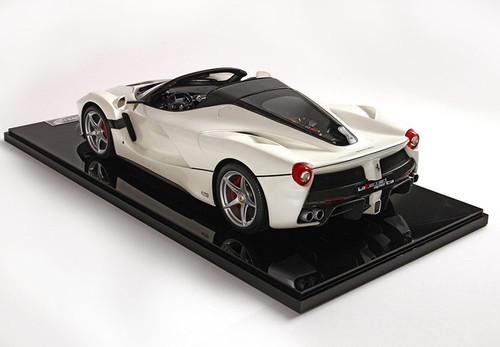 1/12 BBR Ferrari LaFerrari Aperta Bianco Italia Grigio Silverstone Livery BBR1209E Resin Car Model