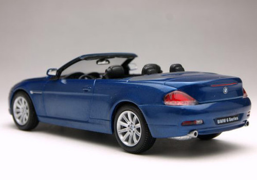 1/43 Kyosho BMW E63 6 Series Convertible (Blue) Diecast Car Model