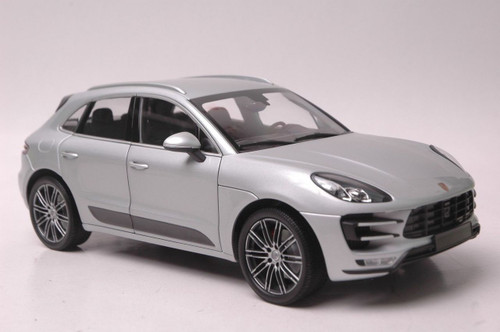 1/18 Minichamps Porsche Macan Turbo (Metallic Silver) Diecast Car Model Limited 504