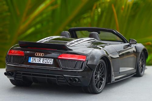1/18 Dealer Edition 2016 Audi R8 V10 Plus Spyder Coupe (Black) Wide Body Diecast Car Model