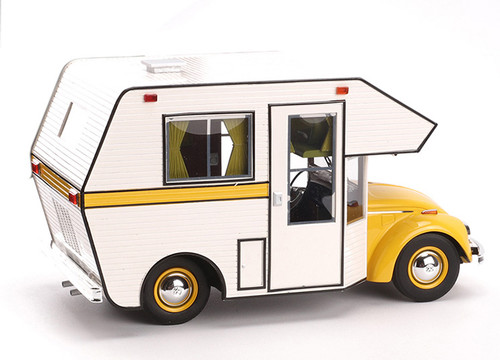 1/18 Schuco Volkswagen VW Kaefer Beetle RV Camper (Yellow) Diecast Car Model