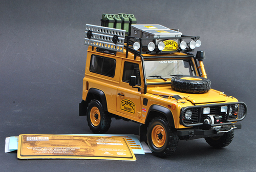 1/18 Almost Real Almostreal Land Rover Defender 90 Camel Trophy SWB Diecast Car Model