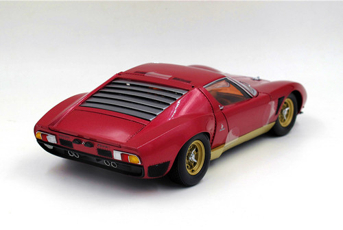 1/18 Kyosho Lamborghini Miura Jota Svj (Red) Diecast Car Model