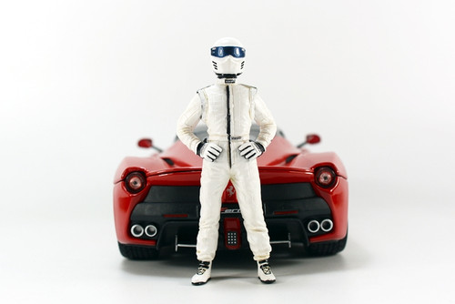 1/18 Top Gear TopGear I am the Stig Figure White (car model not included)