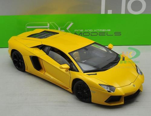 1/18 Welly FX Lamborghini Aventador LP700-4 (Yellow) Diecast Car Model