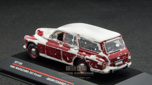 1/43 IST IXO Warszawa 203 Kombi Snow Covered Diecast Car Model