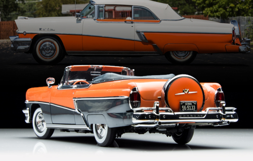 1/18 SS Sunstar 1956 Mercury Montclair (Orange / Black) Diecast Car Model