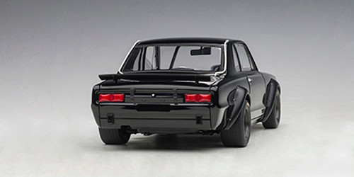 1/18 AUTOart 1972 NISSAN SKYLINE GT-R GTR KPGC-10 KPGC10 RACING (BLACK) Diecast Car Model 87278