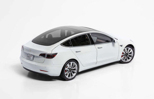 1/18 Official Dealer Edition Tesla Model 3 (White) Diecast Car Model