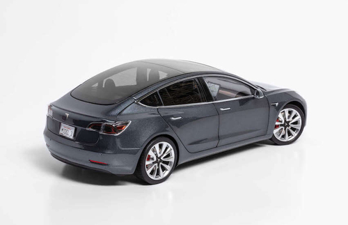 1/18 Dealer Edition Tesla Model 3 (Grey) Diecast Car Model