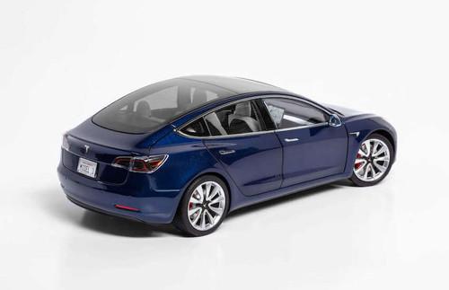 1/18 Dealer Edition Tesla Model 3 (Blue) Diecast Car Model