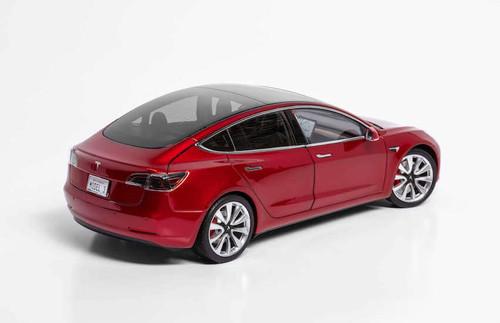 1/18 Dealer Edition Tesla Model 3 (Red) Diecast Car Model