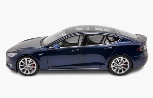 RARE 1/18 Dealer Edition Tesla Model S P100D (Blue) Diecast Car Model