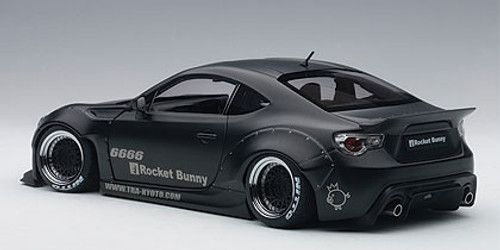 1/18 AUTOart ROCKET BUNNY TOYOTA 86 (MATT BLACK) Diecast Car Model 78755