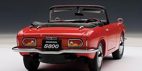1/18 AUTOart HONDA S800 ROADSTER 1966 (YELLOW) Diecast Car Model 73276