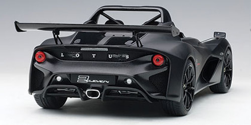 1/18 AUTOart LOTUS 3-ELEVEN (MATT BLACK W/ GLOSS BLACK ACCENTS) Diecast Car Model 75391