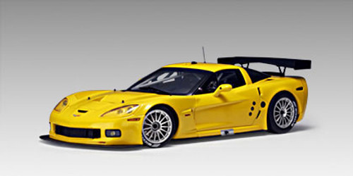 1/18 AUTOart CHEVROLET CHEVY CORVETTE C6R PLAIN BODY VERSION (YELLOW) Diecast Car Model 80551 Limited