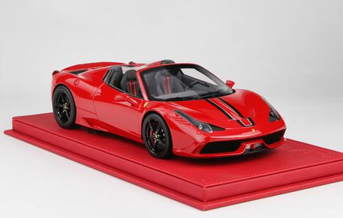 1/18 BBR Ferrari 458 Speciale A (Red w/ Black Stripe) Resin Car Model Limited 148