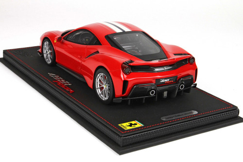 1/18 BBR Ferrari 488 Pista (Red w/ White Stripe) Resin Car Model Limited
