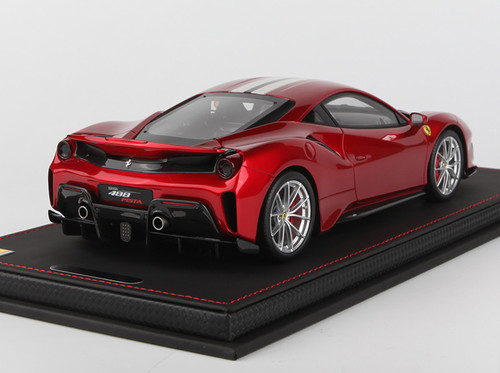 1/18 BBR Ferrari 488 Pista Rosso Fuoco (Metallic Red w/ White Stripe) Resin Car Model Limited 48 Pieces