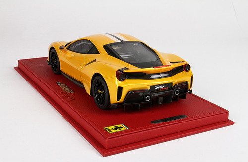 1/18 BBR Ferrari 488 Pista (Yellow) Resin Car Model Limited 48 Pieces