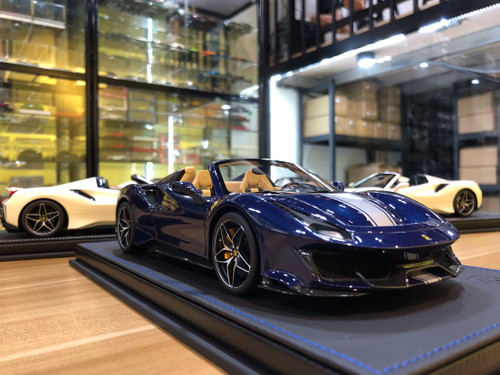 1/18 BBR Ferrari 488 Pista Spider (Blue) Resin Car Model Limited 28 Pieces