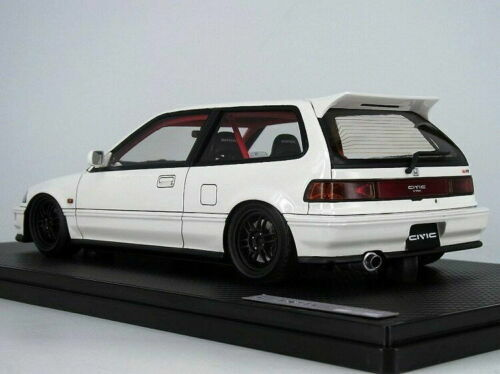 1/18 IG Ignition model Honda Civic (EF9) SiR White Resin Car Model