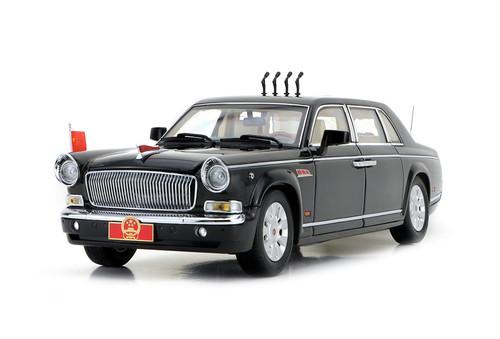 1/24 China HONGQI Military Parade Vehicle 70th Anniversary Diecast Car Model