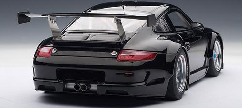 1/18 AUTOart PORSCHE 911 (997) GT3 RSR 2009 PLAIN BODY VERSION - BLACK Diecast Car Model 80974
