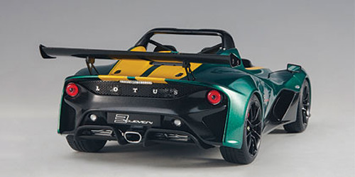 1/18 AUTOart LOTUS 3-ELEVEN (GREEN W/ YELLOW ACCENTS) Diecast Car Model 75392