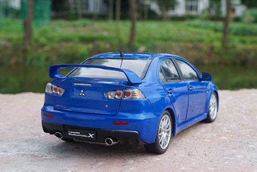 1/18 Dealer Edition Mitsubishi Lancer EVO Evolution X (Blue) Diecast Car Model
