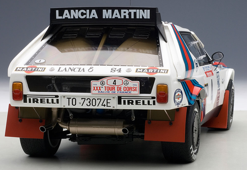 """1/18 AUTOart LANCIA DELTA S4 """"MARTINI"""" TOUR DE CORSE 1986 TOIVONEN/CRESTO #4 Diecast Car Model 88620"""