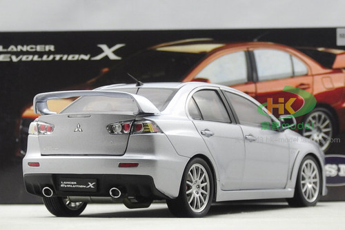 1/18 Dealer Edition Mitsubishi Lancer EVO Evolution X (Silver) Diecast Car Model