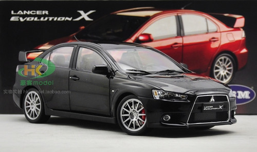 1/18 Dealer Edition Mitsubishi Lancer EVO Evolution X (Black) Diecast Car Model
