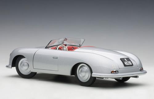 1/18 AUTOart 1948 PORSCHE 356 NUMBER 1 Convertible (SILVER) Diecast Car Model 78072
